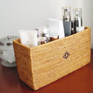 アジアン雑貨 インテリア アタ製 長方形 BOX 収納ボックス 収納ケース バリ雑貨 makai