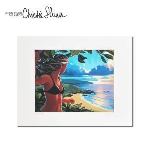 Christie Shinn ABOVE WAIMEA 28.0×35.5cm クリスティー シン アートプリント ハワイアン アート サーフ アート ハワイアン インテリア ハワイアン 雑貨|makai