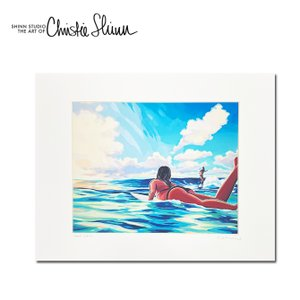 Christie Shinn CHUNS GIRLS 28.0×35.5cm クリスティー シン アートプリント ハワイアン アート サーフ アート ハワイアン インテリア ハワイアン 雑貨|makai