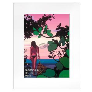 Christie Shinn FIRE LIGHT 28.0×35.5cm クリスティー シン アートプリント ハワイアン アート サーフ アート ハワイアン インテリア ハワイアン 雑貨|makai