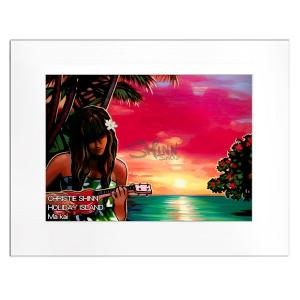 Christie Shinn HOLIDAY ISLAND 28.0×35.5cm クリスティー シン アートプリント ハワイアン アート サーフ アート ハワイアン インテリア ハワイアン 雑貨|makai