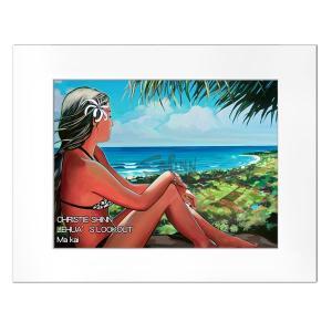 Christie Shinn LEHUA'S LOOKOUT 28.0×35.5cm クリスティー シン アートプリント ハワイアン アート サーフ アート ハワイアン インテリア ハワイアン 雑貨|makai