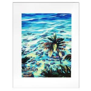 Christie Shinn LOW TIDE 28.0×35.5cm クリスティー シン アートプリント ハワイアン アート サーフ アート ハワイアン インテリア ハワイアン 雑貨|makai