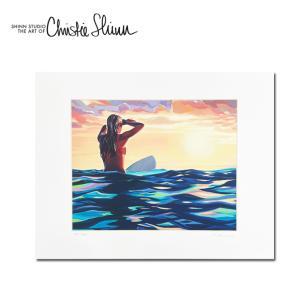 Christie Shinn LAST WAVE 28.0×35.5cm クリスティー シン アートプリント ハワイアン アート サーフ アート ハワイアン インテリア ハワイアン 雑貨|makai
