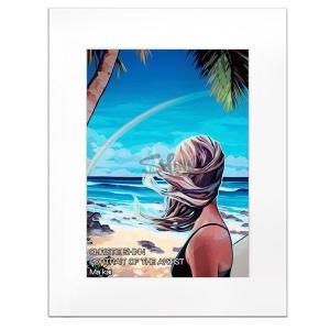 Christie Shinn PORTRAIT OF THE ARTIST 28.0×35.5cm クリスティー シン アートプリント ハワイアン サーフ アート ハワイアン インテリア 雑貨|makai