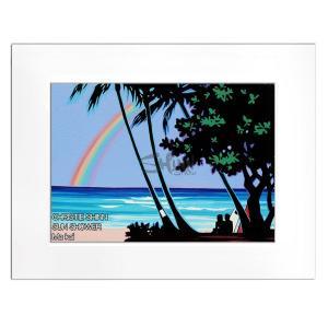 Christie Shinn SUN SHOWER 28.0×35.5cm クリスティー シン アートプリント ハワイアン アート サーフ アート ハワイアン インテリア ハワイアン 雑貨|makai