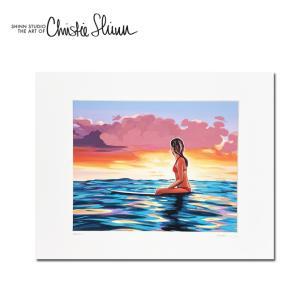 Christie Shinn THE HORIZON 28.0×35.5cm クリスティー シン アートプリント ハワイアン アート サーフ アート ハワイアン インテリア ハワイアン 雑貨|makai