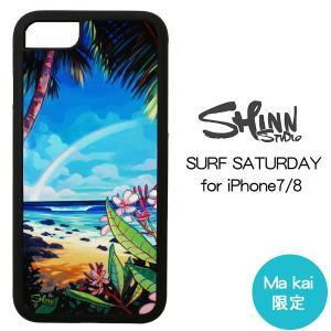 当店限定デザイン iPhone7 iPhone8 ケース ブランド Christie Shinn iPhoneカバー SURF SATURDAY クリスティ シン|makai