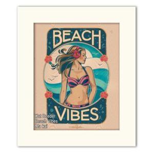 Kat Reeder Beach Vibes 28.0×35.5cm カット リーダー アートプリント/あすつく|makai