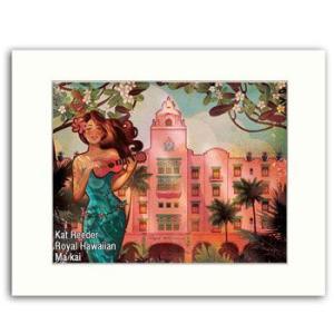 Kat Reeder Royal Hawaiian 28.0×35.5cm カット リーダー アートプリント|makai