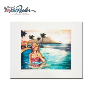 Kat Reeder Sheraton Waikiki 28.0×35.5cm カット リーダー アートプリント|makai