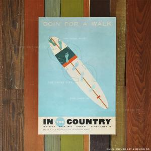 ニックカッチャー Retro Hawaii Travel Print「Goin' For A Wal...