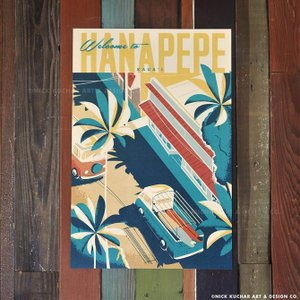 ニックカッチャー Retro Hawaii Travel Print「WELCOME TO HANA...