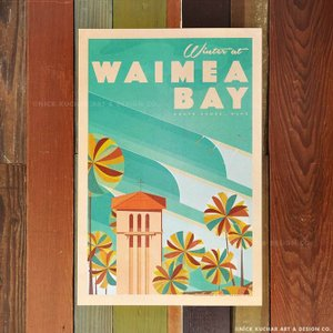 ニックカッチャー Retro Hawaii Travel Print「Winter at Waime...