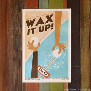ニックカッチャー Retro Hawaii Travel Print「Wax It Up!」30.5...