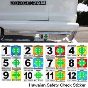 ハワイアン雑貨 ハワイ セーフティーチェック レプリカステッカー カー用品 レプリカ車検ステッカー|makai