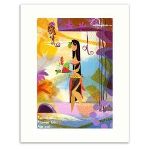 Swanson Flower Girl 28.0×35.5cm スワンソン アートプリント|makai