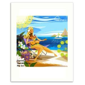 Swanson Seaside Song 28.0×35.5cm スワンソン アートプリント|makai