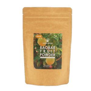 AMANZI オーガニック バオバブ フルーツ パウダー 185g 非加熱 (コールドプレス製法) 100% Certified Organic Baobab Powder|makanainc