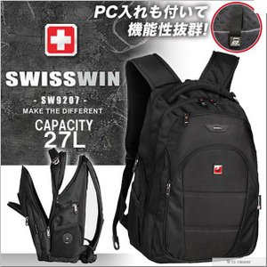 スイスウィン SWISSWIN 大容量多機能 リュックサック  SW9207 makanainc