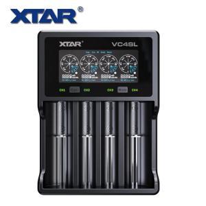 XTAR VC4S USB充電器 QC3.0最大3Ax1 電圧段階 電電流量 充電容量 内部抵抗値を表示 充電池の容量測定 長期保管準備機能 Li-ion Ni-MH対応 エクスター|makanainc