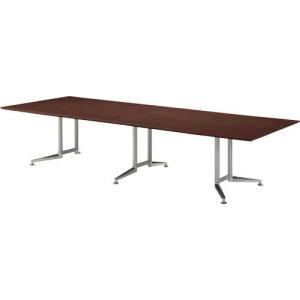 プラス製 大型 会議テーブル WX-JR4000 ラウンド天板 幅4メートル / 対面8人〜10人用...