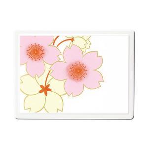 1509-02-05 蒔絵付箋ケース 桜花(白)|makie