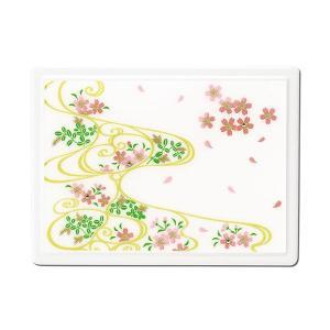 1509-02-09 蒔絵付箋ケース「雅」 スワロフスキー桜に流水紋(白)|makie