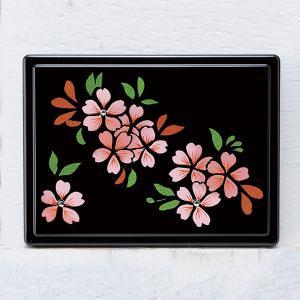 1509-02-10 蒔絵付箋ケース「雅」 スワロフスキー桜(黒)|makie
