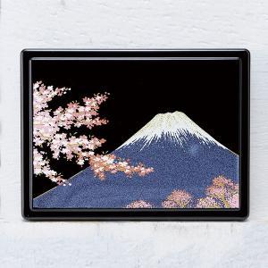 1509-02-12 蒔絵付箋ケース「雅」 富士に桜|makie