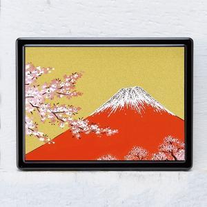 1509-02-13 蒔絵付箋ケース「雅」 赤富士|makie