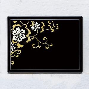 1509-02-17 蒔絵付箋ケース「雅」 スワロフスキー唐草(黒)|makie