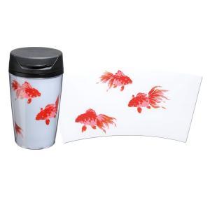 1509-04-08 蒔絵タンブラー 白 350ml 金魚|makie