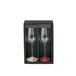 18-4-wine 蒔絵ペアワイングラス 箱入(ご注文後にデザインをメールでご連絡下さい。)|makie