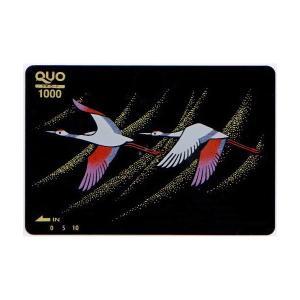 蒔絵QUOカード 平安鶴 1000|makie