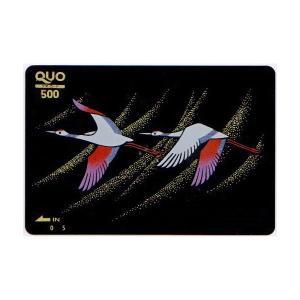 蒔絵QUOカード 平安鶴 500|makie
