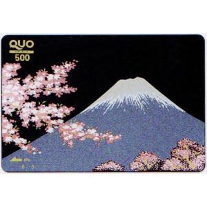 蒔絵QUOカード 富士に桜 500|makie
