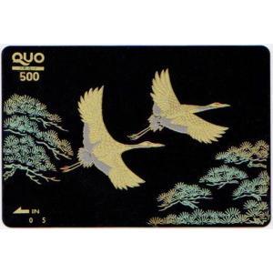 蒔絵QUOカード 松に鶴 500|makie