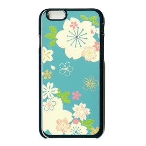 蒔絵  iPhone6 Plusケース/スワロフスキー桜(黒)|makie