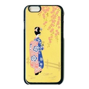 蒔絵  iPhone6 Plusケース/舞妓(黒)|makie