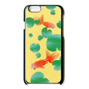 蒔絵  iPhone6 Plusケース/金魚(黒)|makie