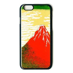 蒔絵  iPhone6 Plusケース/赤富士(黒)|makie