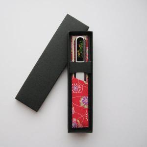 ブラジェク製 高級 ガラス爪やすり 日本の花 10月 菊 ・ギフト仕様 (Cタイプ)|makie