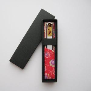 ブラジェク製 高級 ガラス爪やすり プリント仕上げ 花魁 ・ギフト仕様 (Cタイプ)|makie