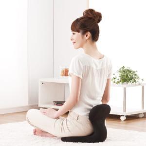 凜座 新型骨盤カップ 座椅子 姿勢矯正 骨盤底筋 骨盤クッション|makino