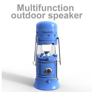 アウトドアスピーカー/キャンプLED照明/携帯電話通話/充電器/ソーラー充電/ラジオ/メモリカード対応など多機能  OutdoorSpeaker-Blue|makitaqueenshopp