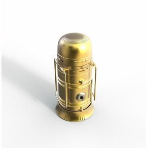 アウトドアスピーカー/キャンプLED照明/携帯電話通話/充電器/ソーラー充電/ラジオ/メモリカード対応など多機能  OutdoorSpeaker-Golden|makitaqueenshopp