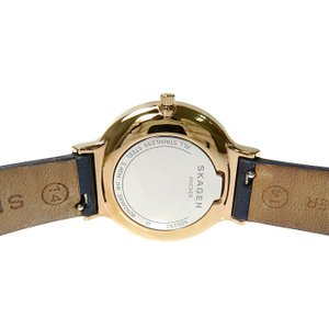 SKAGEN/スカーゲン アンカー SKW2608 腕時計 GP/ステンレススチール/ネイビー革ベルト クオーツ ホワイト文字盤 レディース|mako78|06