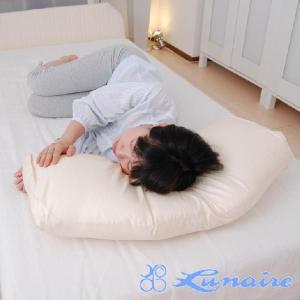 枕 まくら 寝返り楽らく枕 48×75センチ 枕カバー付き 安眠枕 洗える|makura