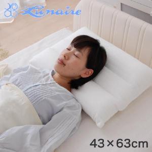 枕 まくら 綿二重ガーゼ使用三分割ネックサポート枕 中 43×63センチ 安眠枕 洗える|makura